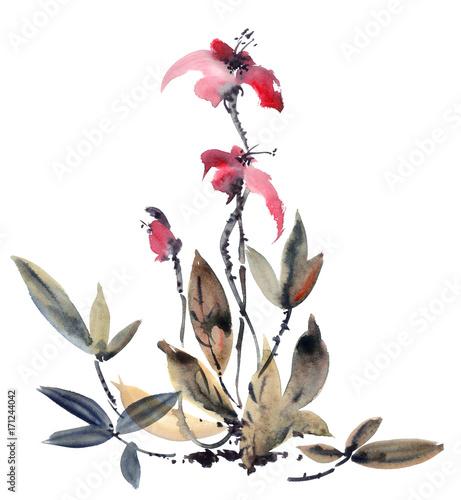 In de dag Art Studio Watercolor orchid flower