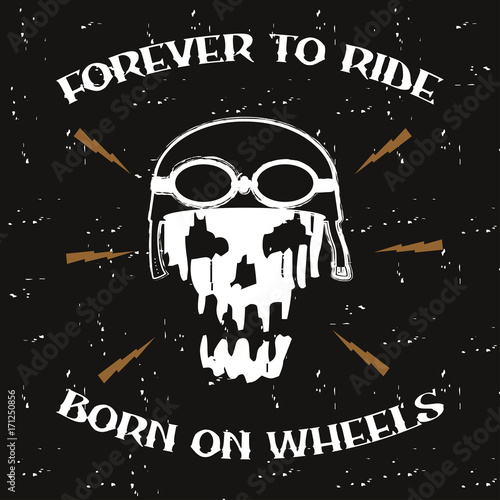 Motorcycle skull Canvas Print