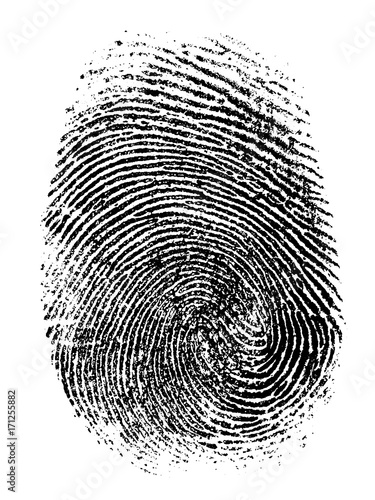 Canvastavla  fingerprint vector illustration