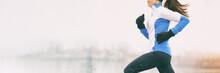 Winter Running Woman Banner Jo...