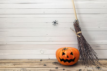 Halloween Pumpkins With Painte...