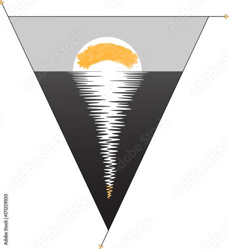 minimalism / sunrise /minimalist logo black