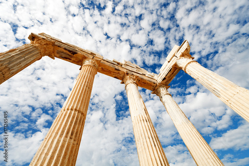 Valokuva  Columns of an ancient Greek temple, ruins