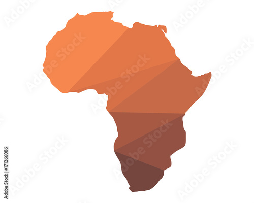 geography africa continent mainland icon image vector Fototapet