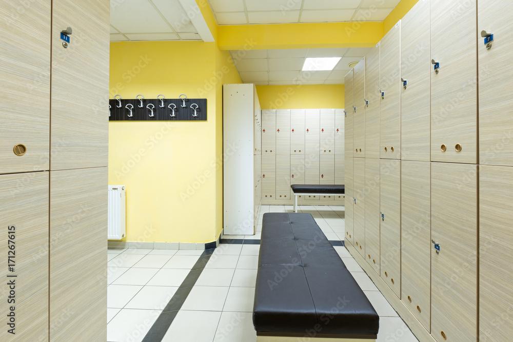 Photo & art print locker room in hotel gym abposters.com