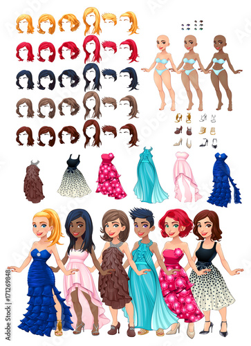 Recess Fitting kids room Dresses and hairstyles game
