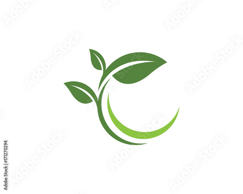 Photo Logos of green leaf ecology nature element vector icon