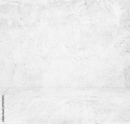 Fototapety, obrazy: Empty white cement room, background, banner, interior design, product display montage, mock up background