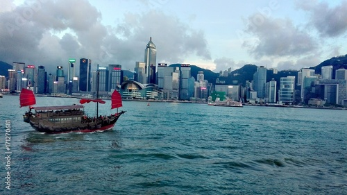 Fotografia Victoria harbour, hong kong