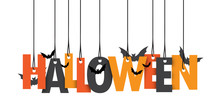 HALLOWEEN Hanging Letters With...