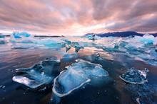 Icebergs In Jokulsarlon Glacia...