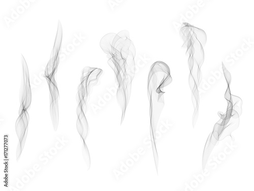 realistic transparent vector smoke texture set abstract digital smoke isolated on white background design element