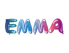 The Girls Name Emma Balloons