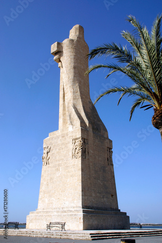 Huelva (Spain). Monument to the Discovering Faith, also called Monument to Columbus