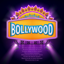 Indian Bollywood Cinema Vector...