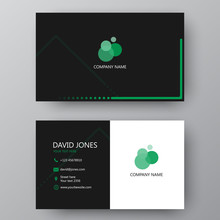 Modern Presentation Card With Company Logo. Vector Business Card Template. Visiting Card For Business And Personal Use.  Vector Illustration Design.