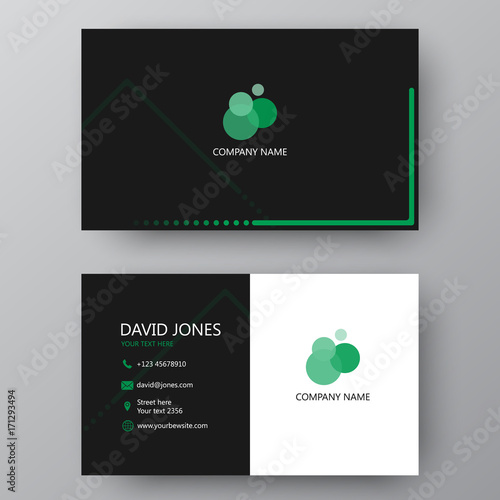 Modern presentation card with company logo. Vector business card template. Visiting card for business and personal use.  Vector illustration design. Wall mural