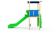 Metal Children's Slide Isolate...