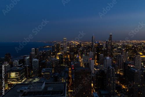 Obraz na dibondzie (fotoboard) Panoramę Chicago z góry