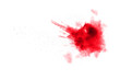 canvas print picture - abstract red powder splatted on white background,Freeze motion of red powder exploded.