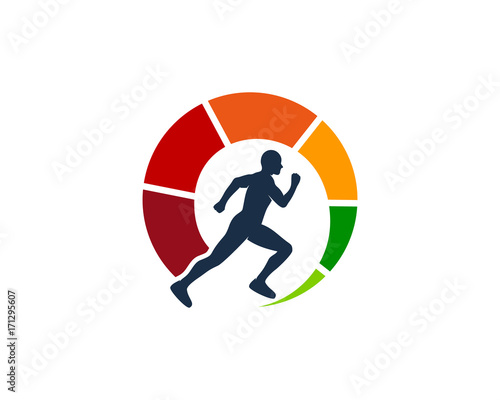Photo  Maximum Run Icon Logo Design Element