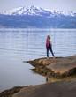girl hiker at the Hardangerfjorden