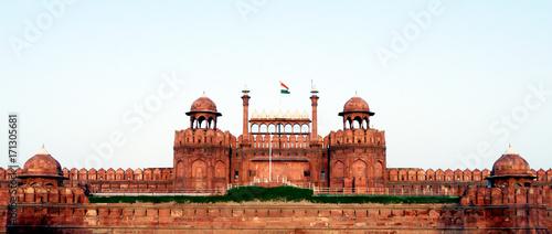 Autocollant pour porte Delhi Lal Qila (Red Fort) in Delhi. Lal Qila is a UNESCO World Heritage site.