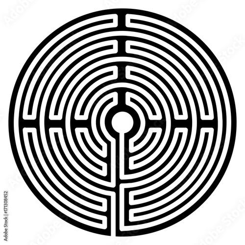 Spoed Fotobehang Spiraal Labyrinth Esoterik Vektor