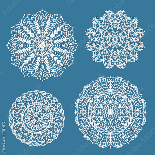 Vászonkép  Set of crochet doilies