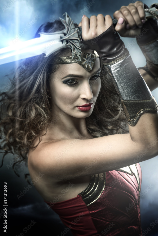 Photo  Beautiful wonder woman
