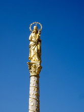 Gilded Marian Pillar In The So...