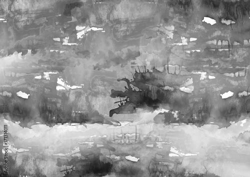 akwarele-tla-z-czarno-bialych