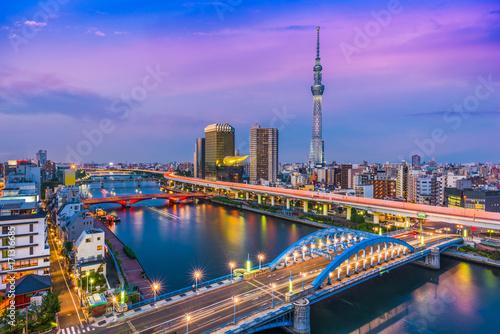 Foto auf AluDibond Tokio Tokyo Japan Skyline
