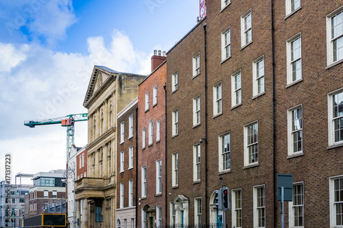 Photo  Traditional antique city building in Dublin Ireland