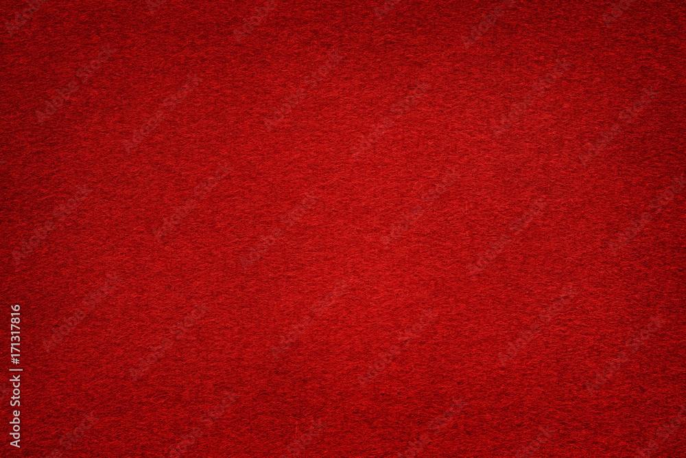 Fototapety, obrazy: Dark red felt table surface with light center