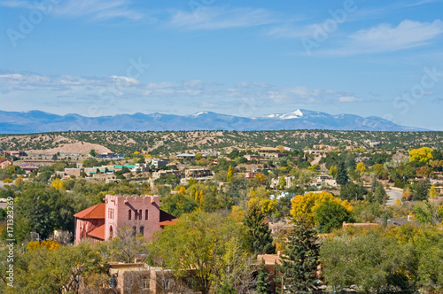 Naklejka premium Widok na Santa Fe NM