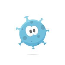 Cartoon Germ Bacteria Vector Illustration