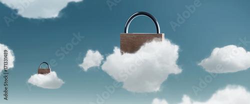 Obraz Cloud Datensicherheit - fototapety do salonu