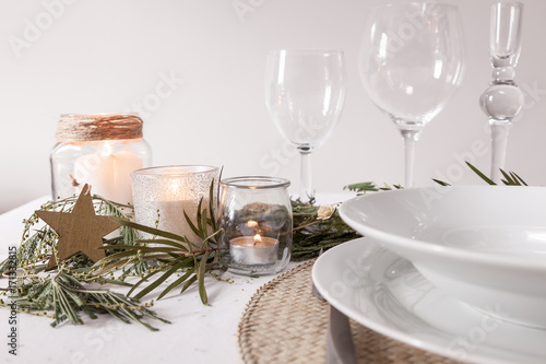 Fotografie, Obraz  decoración de mesa para navidad