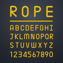 Rope Font Alphabet And Number....