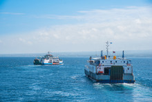 Logistic Transport Concept, Ferry Boat Transportation In Indian Ocean, Indonesia