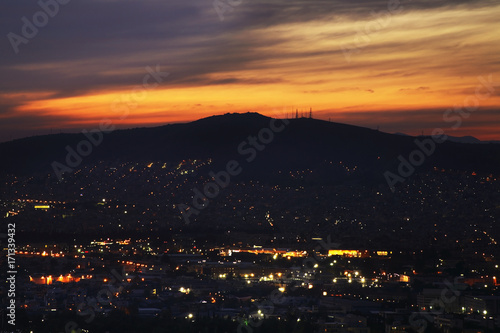 Zdjęcie XXL Panoramiczny widok na Ateny. Grecja