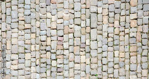 Cuadros en Lienzo Cobblestone. Ancient stone floor texture