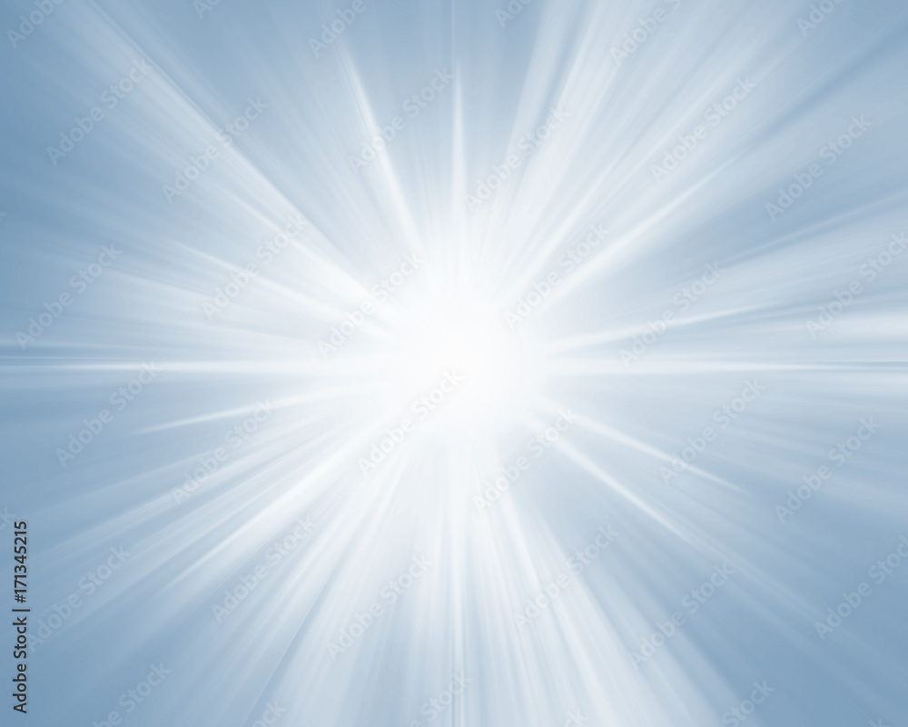 Fototapety, obrazy:   Blue sparkling glowing star background.