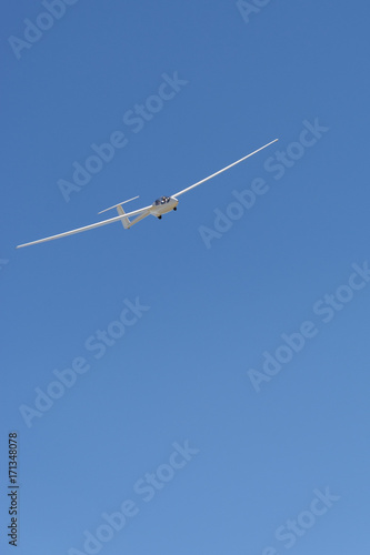 view of the sailplane in the sky