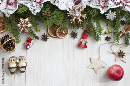 Classic christmas background Canvas Print