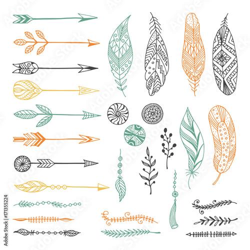 Set of creative Boho style Frames mady by Ethnic.