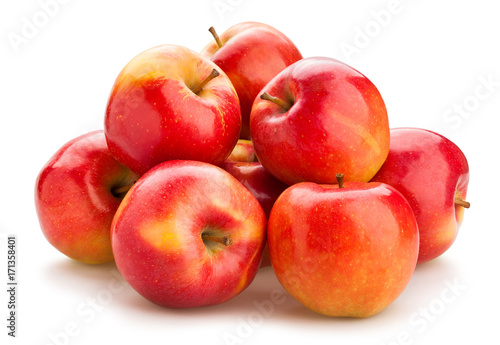 red apple path isolated