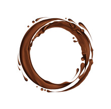 Splashes Of Chocolate In A Cir...