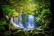 The Horseshoe Falls at the Mt Field National Park, Tasmania, Australia